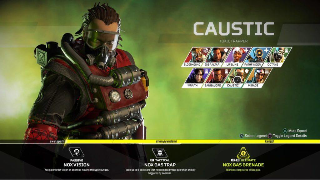 Apex Legends Caustic Buffed