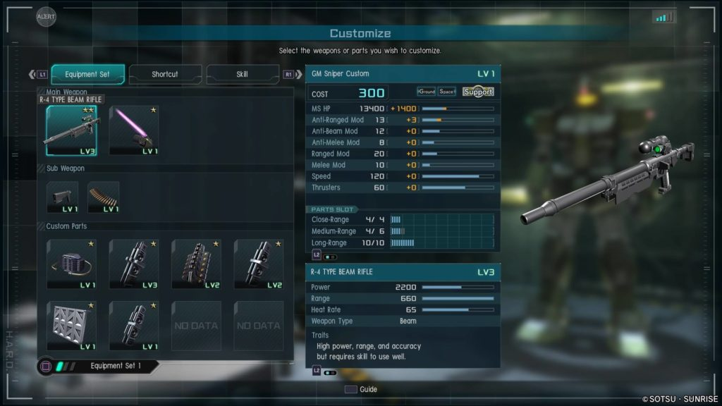 GM Sniper Custom Stats