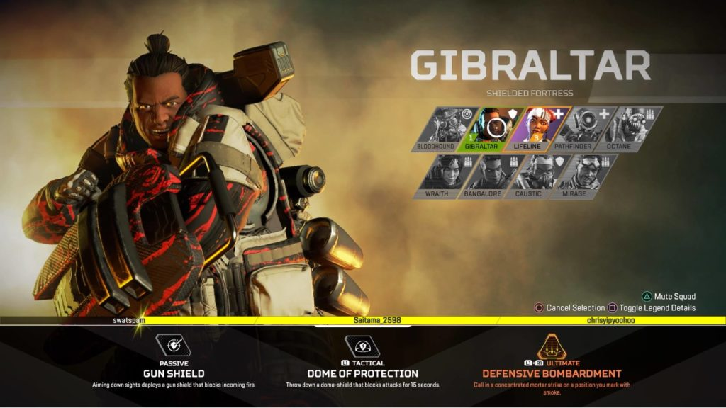 Apex Legends Gibraltar Buffed