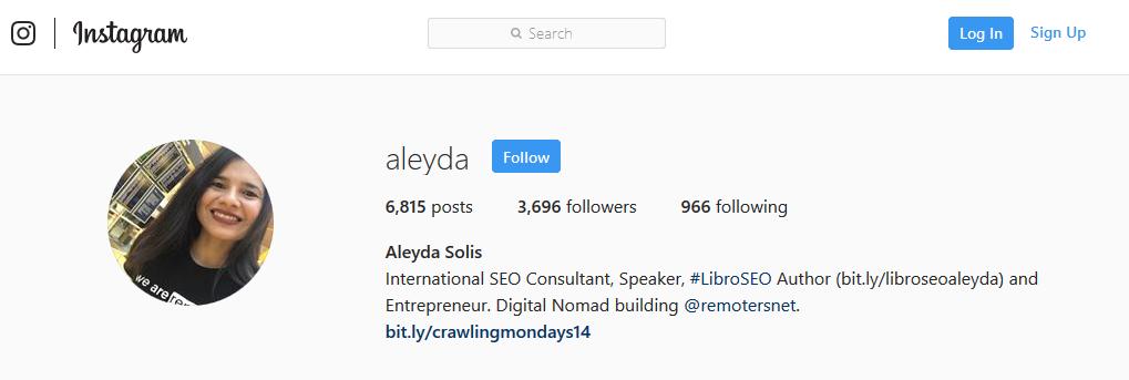 Aleyda on Instagram