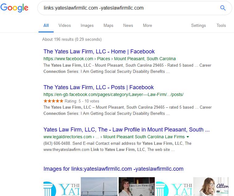 link building using google