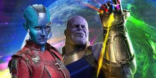 Thanos and Nebula Avengers Endgame Review