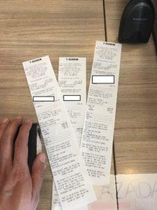 Keeping 711 Cliqq receipts