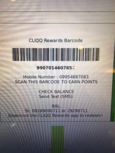 Photo of Cliqq barcode