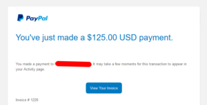Paypal Confirmation Email