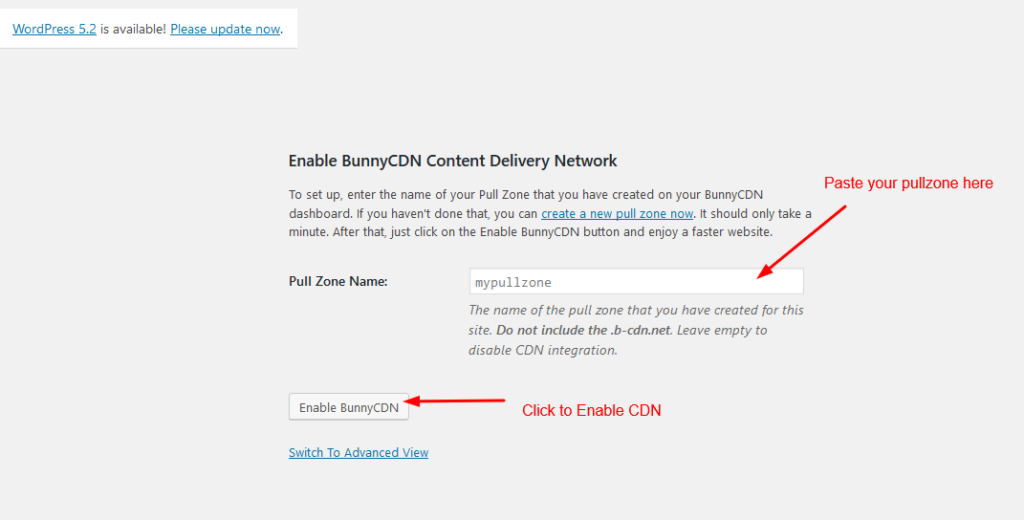 Enabling your CDN on WordPress