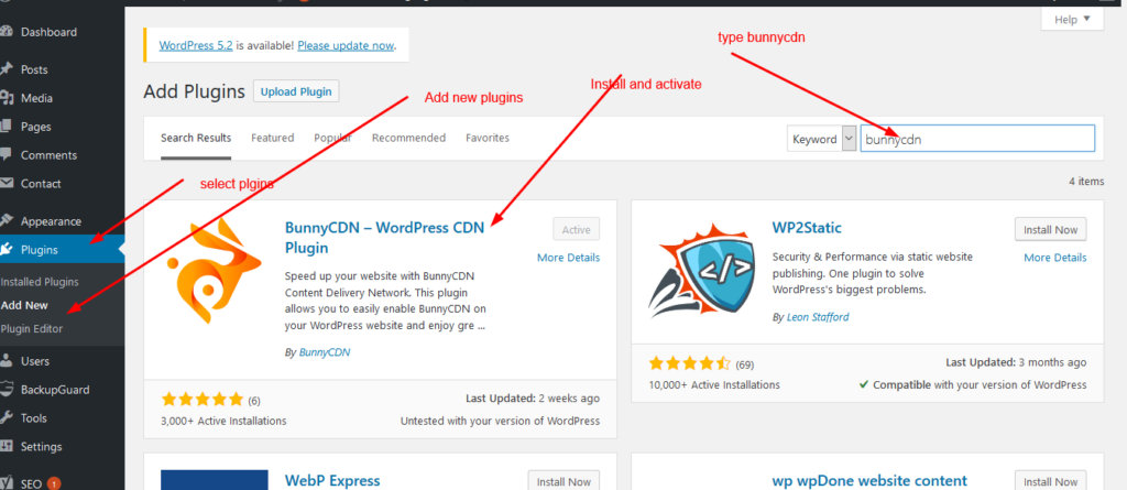 bunnycdn plugin on wordpress