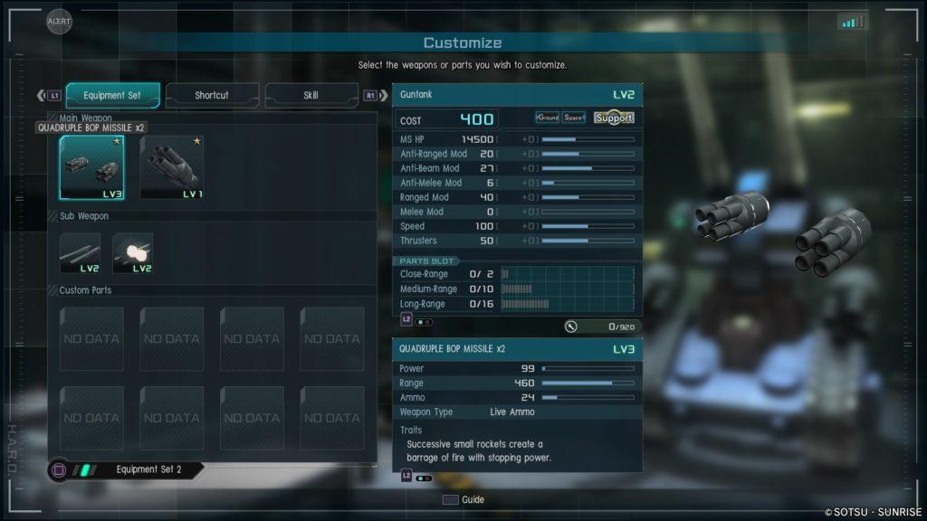 Quadrupple BOP Missile x2