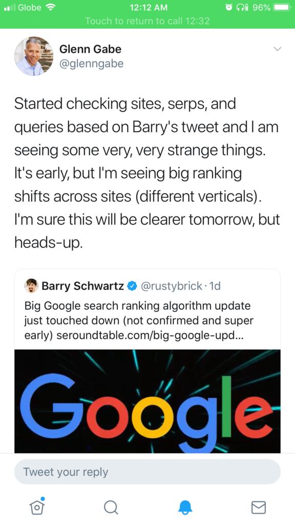 Glenn Gabe's response on Google Glitch